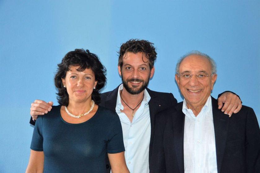 andrea con Francesco Vivacqua e Nadia Mazzon