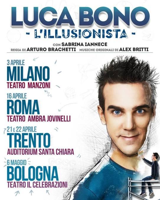 Luca Bono anteprime nazionali 2018