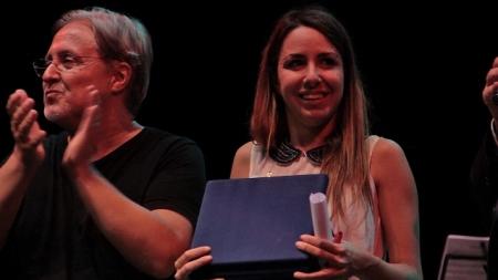 2013-09-21 - Federica Abbate e Gian Piero Alloisio Premiazione ph Marco Di Castri
