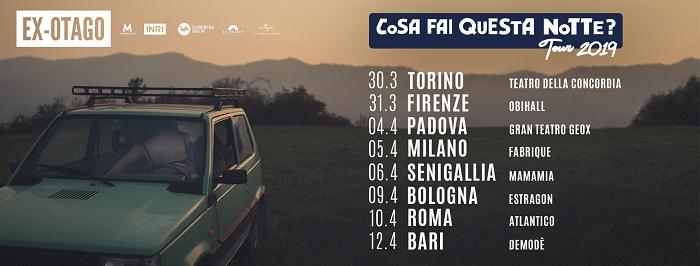 COSA FAI QUESTA NOTTE - TOUR 2019