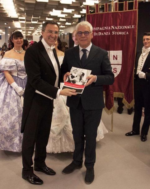 Nino Graziano Luca con il Presidente Alessandro Sanesi