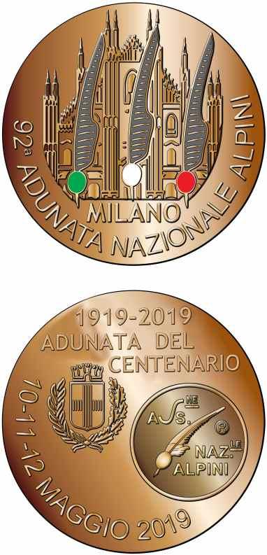 Medaglia ADUNATA-ALPINI-MILANO-2019-2